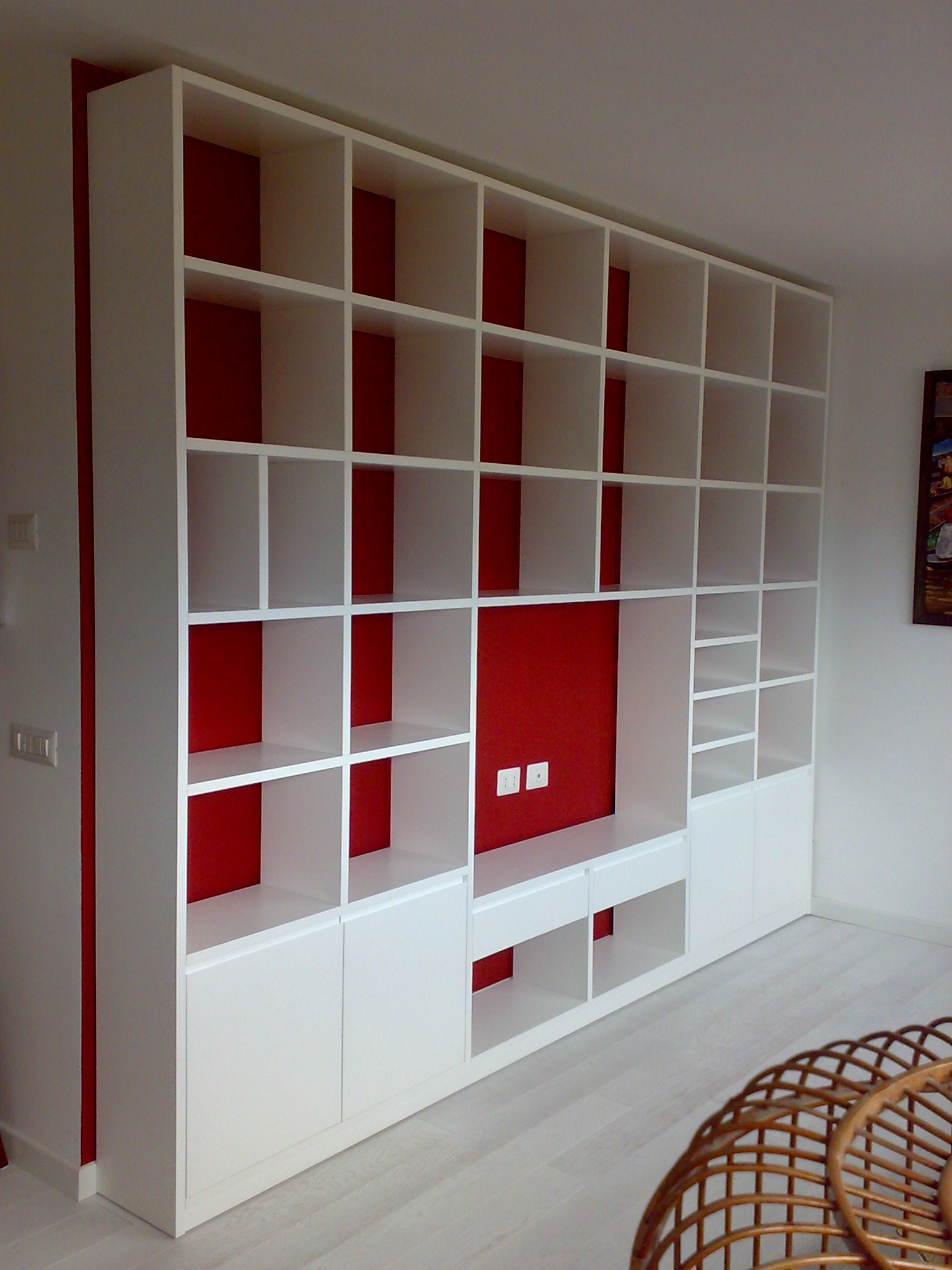 librerie moderne libreria moderna laccata bianca